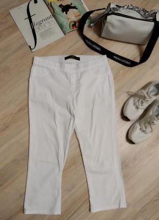 Отличные стильные летние джинсы бриджи капри скинни белые