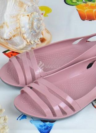 Балетки женские кроксы clogs huarache пудровые облегченные2 фото