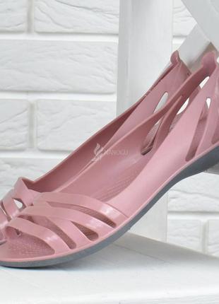 Балетки женские кроксы clogs huarache пудровые облегченные4 фото