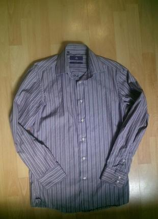 Фирменная рубашка слим m
