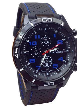 Наручные мужские часы с черным ремешком код 138