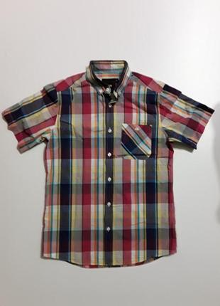 Фирменная хлопковая рубашка s