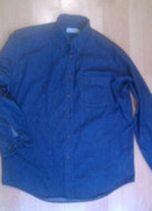 Фирменная джинсовая рубашка m