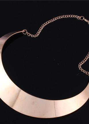 Asos колье греческий стиль ожерелье зеркало металлическое широкое