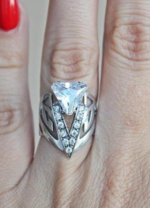 Серебряное кольцо оракул р.17