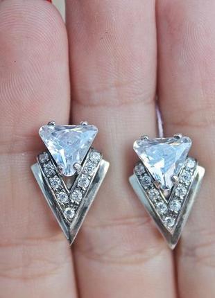 Серебряные серьги оракул