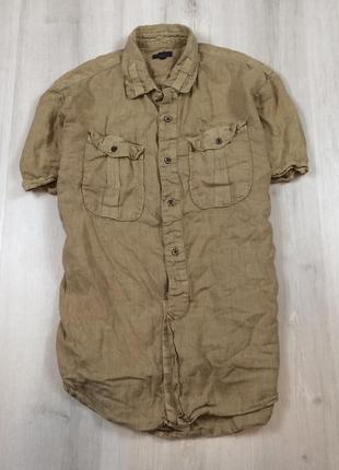 Рубашка льняная paul smith m-l пул смич пауль лен мужская шведка