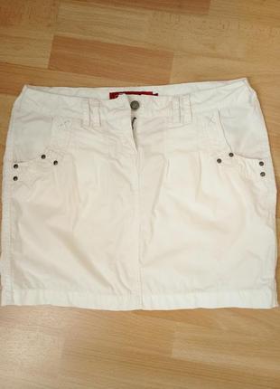 Белая  коттоновая юбка фирмы iguana