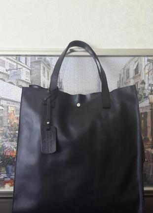 "Шикарная кожаная сумка ""шоппер""borse in pelle италия!"