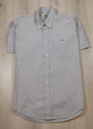 Рубашка lacoste xl лакоста мужская шведка хл