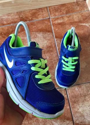 Синие кроссовки от nike