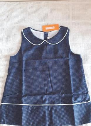 Синяя блузка-топ в белый мелкий горошек, gymboree, на 10-12 лет