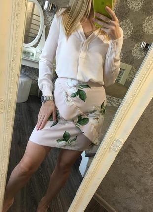 Юбка в цветы