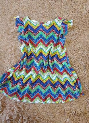 Классное детское платье плиссе от zara
