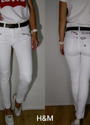 Очень красивые джинсики с вышивкой h&m