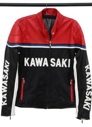 Мужская кожанная куртка kawasaki