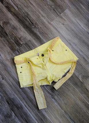 Женские желтые яркие короткие новые шорты denim1 фото
