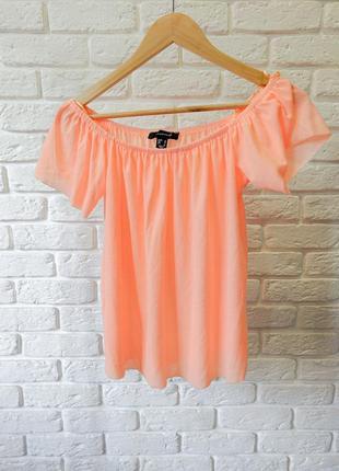 Оранжевая женская футболка блузка atmosphere