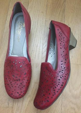 Супер мягкие кожаные туфли rieker