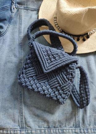 Сумка кроссболи макраме сумочка серез плечо1 фото