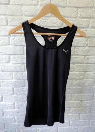 Спортивная  черная майка футболка puma