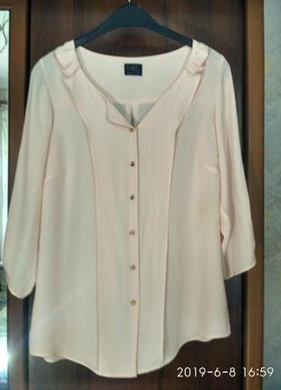 Блуза нежно розового цвета пудры бренда m&s (англия)-оригинал
