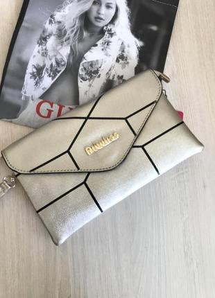 Золотистая сумочка через плечо