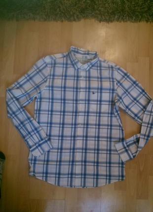 Фирменная хлопковая рубашка m