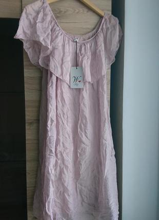1+1=3, 1=50% на 2 единицу актуальное  итальянское платье цвета пудра