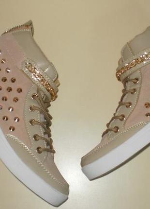 Высокие кеды, кроссовки хайтопы glitz & glam 40 р.