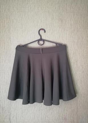 🌹короткая расклешенная юбка цвета хаки🌹пышная юбка
