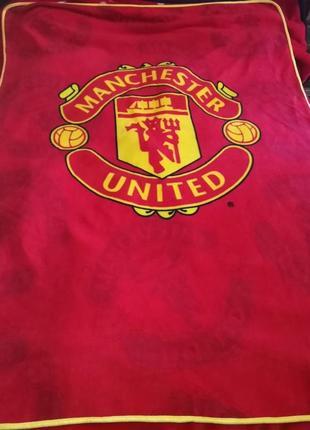 Флисовый плед fc manchester united