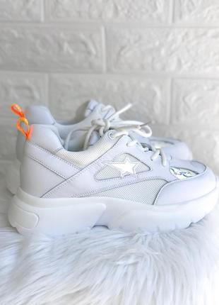 Женские белые кроссовки на толстой подошве ugly shoes