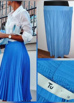 Фирменная стильная базовая юбка миди плиссе, гафре, супер качество!!!