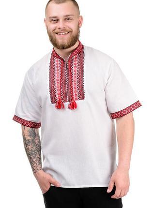 Вышиванка с коротким рукавом мужская, сорочка вишиванка чоловіча