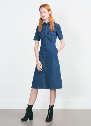 Актуальное джинсовое платье zara