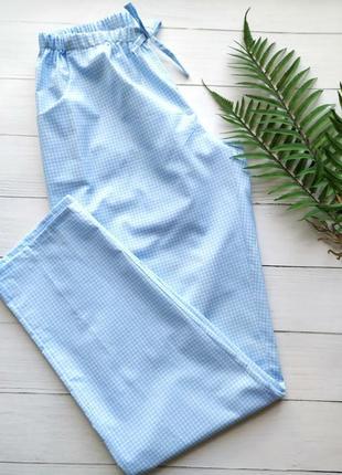 Домашние женские штаны в клеточку