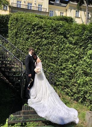Великолепное свадебное платье от бренда milla nova.2 фото