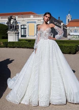 Великолепное свадебное платье от бренда milla nova.5 фото