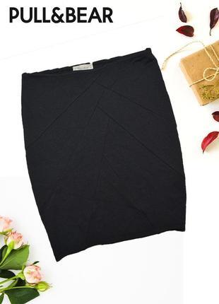 Юбка мини черная по фигуре pull&bear