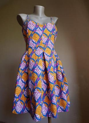 Потрясающее платье карманы хлопок zara испания