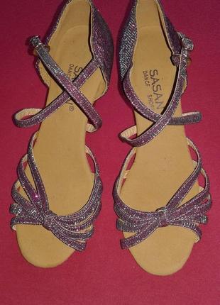 Туфли для латинских танцев sasan dance shoes хамелеон, р. 38 (идут на 36-37).
