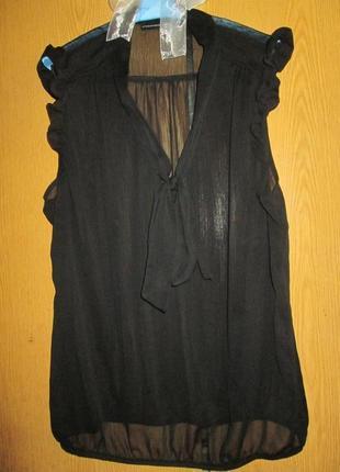 Черная шифоновая прозрачная блуза atmosphere
