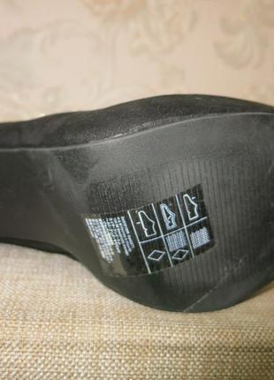 Черные стильные ботильоны на высоком каблуке на 40р. от h&m3