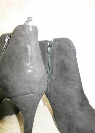 Черные стильные ботильоны на высоком каблуке на 40р. от h&m5