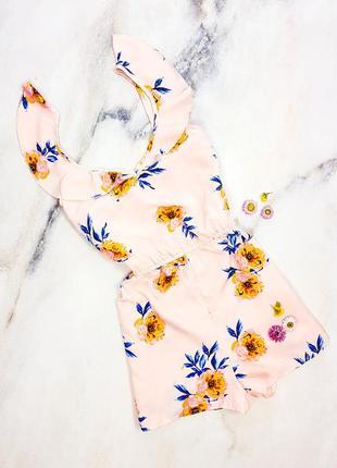 Ромпер с цветочным принтом