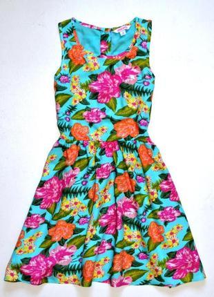 Miss e- vie. красивое вискозное платье в цветочный принт. 8 лет. рост 128 см