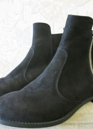 Ботинки новые черного цвета на небольшом каблуке 37р., h&m2