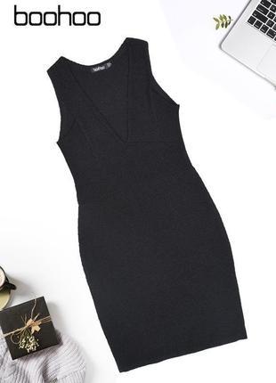 Платье из рельефной ткани в обтяжку boohoo