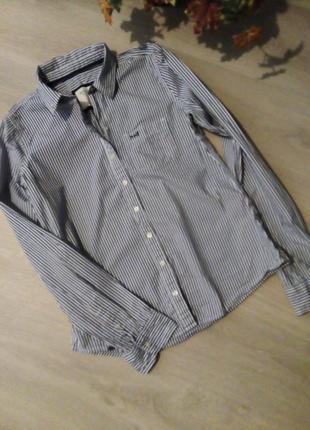 Брендовая рубашка полоска abercrombie & fitch